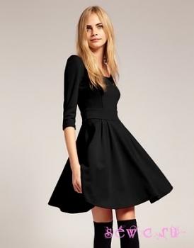 Чёрное платья колокольчик