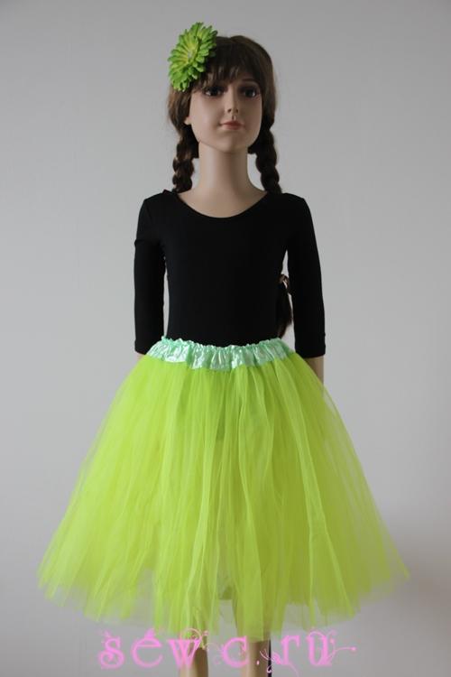 Платье из фатина туту