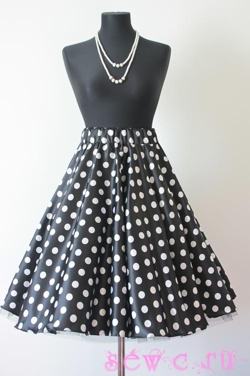 Выкройка пышной юбки в стиле 60-х