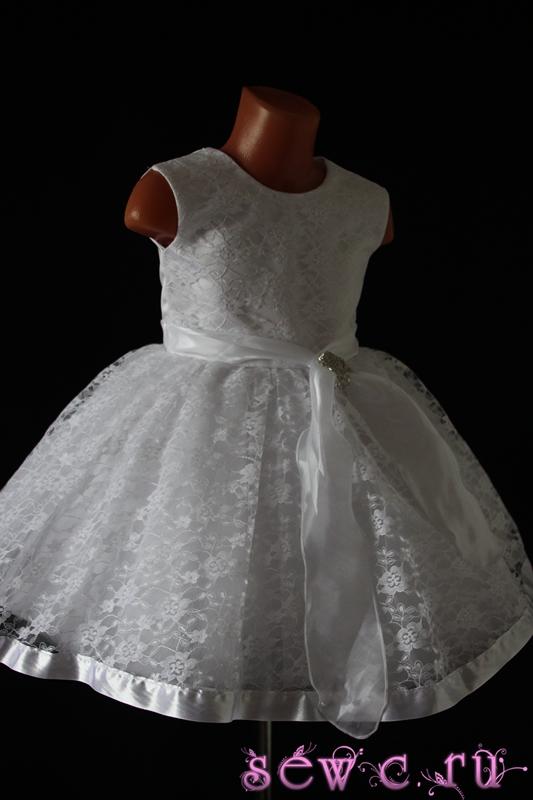 Гипюр платье для девочки выкройка
