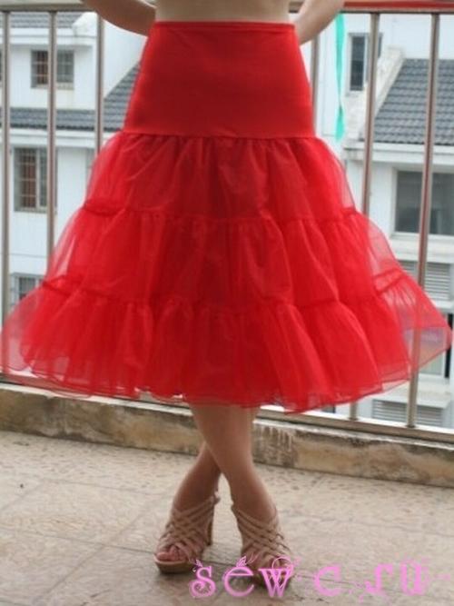 платья фатиновые 50-60 в пол