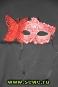 Маски карнавалные, цв. Красный