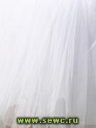 Фатин средней жесткости, цв. Белый 1,5 м. Цена за метр.