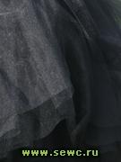 Фатин мягкий, цв.Черный 1,2 м. Цена за метр.