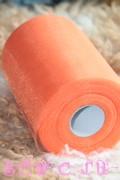 Фатин в шпульках. Дл. 91,2 м. Оранжевый.