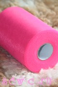 Фатин в шпульках. Дл. 91,2 м. Ярко-розовый.