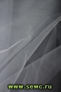 Фатин средней жесткости, цв. Серый 1,3 м. Цена за метр.