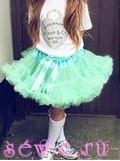 Суперпышная юбка американка Pettiskirt мятная, 5-8 лет.