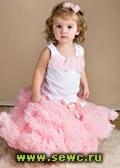Суперпышная юбка американка Pettiskirt розовая, 5-8 лет.