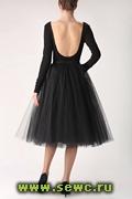 Пышная юбка из фатина. Цвет: Черный. Длина 65 см. ручная работа, 6 слоев фатина!!!