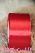 Атласная лента 38 мм. Рулон, цв. Красный.