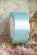 Атласная лента 50 мм. Рулон, цв. Cветло-голубой.