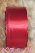 Атласная лента 38 мм. Рулон, цв. Бордовый.