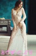 Сорочка из гипюра, цв. Белый