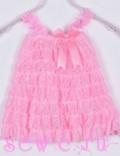"""Платье """"Рюши малыш"""" цв. Розовый, 6-24 мес."""