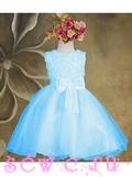 Платье пышное, цв.Голубой, 4-6 лет.
