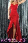 Платье вечернее с открытой спиной, цв.Красный, р.46-48