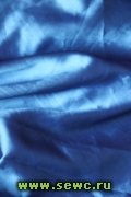 Атлас-стрейч, цв. Синий (Васильковый), цена за 1 м/пог. Шир. 1,5 м.