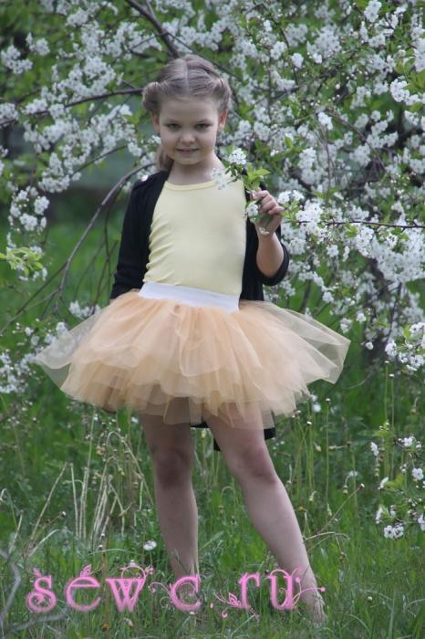 Золотая юбка для девочки