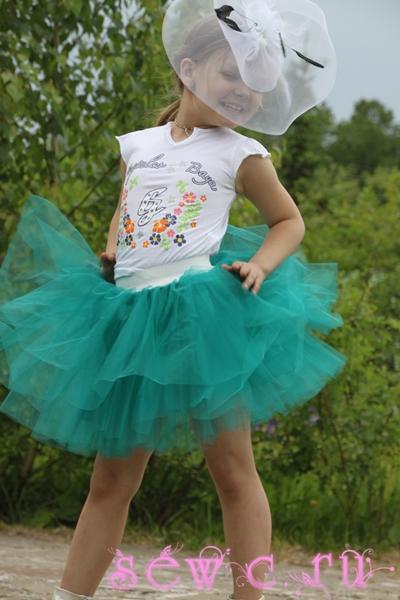 Пышная юбка пачка для девочки