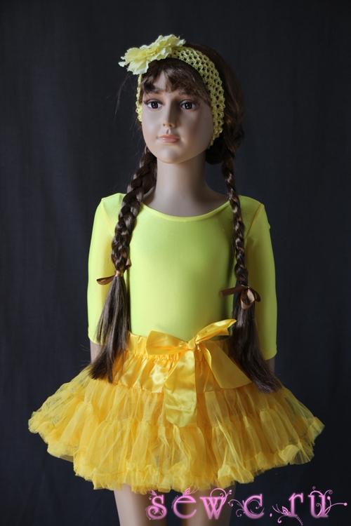 Детские юбки пышные желтые