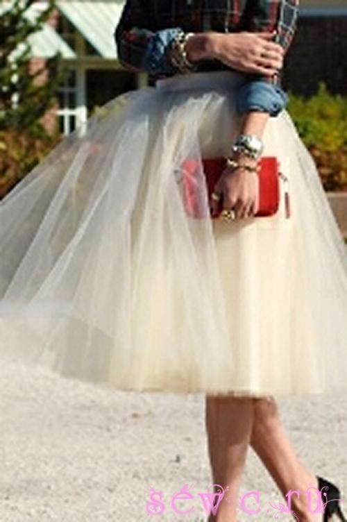 Пышная юбка из фатина женская