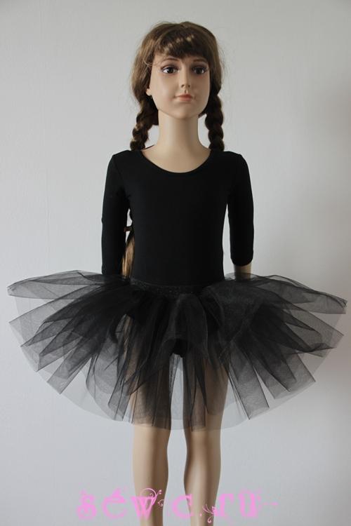 Черная юбка для девочки своими руками