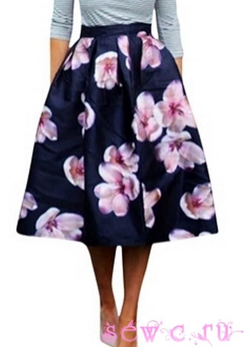 Сшить юбку цветок