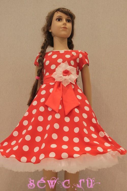 9d7cc4cbd6f Платье ретро детское с подъюбником