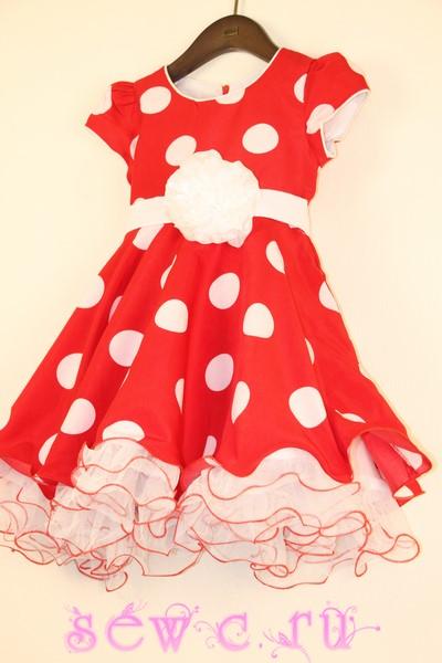 418ec3f102f Детское платье ретро в крупный горох