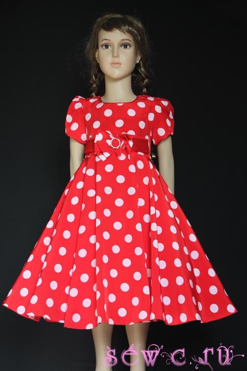 d32eddecaf2 Платье в горошек для девочки с подъюбником