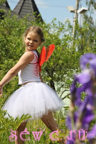 Пышная юбка для девочек белая
