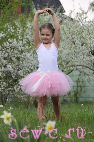 Юбка для танцев для девочки розовая