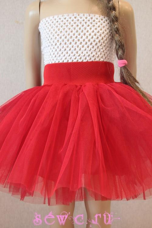f8c0bfc3589e Юбка пачка для девочки красная, дл.25-55 см.
